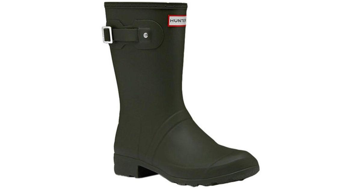 b6432198e3c Hunter - Green Women's Original Tour Short Rain Boot Dark Olive Size 10 M -  Lyst