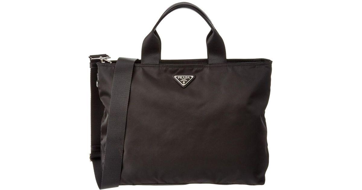23beb2126c01 ... coupon code for lyst prada nylon shopping tote in black ee84c 67f0b