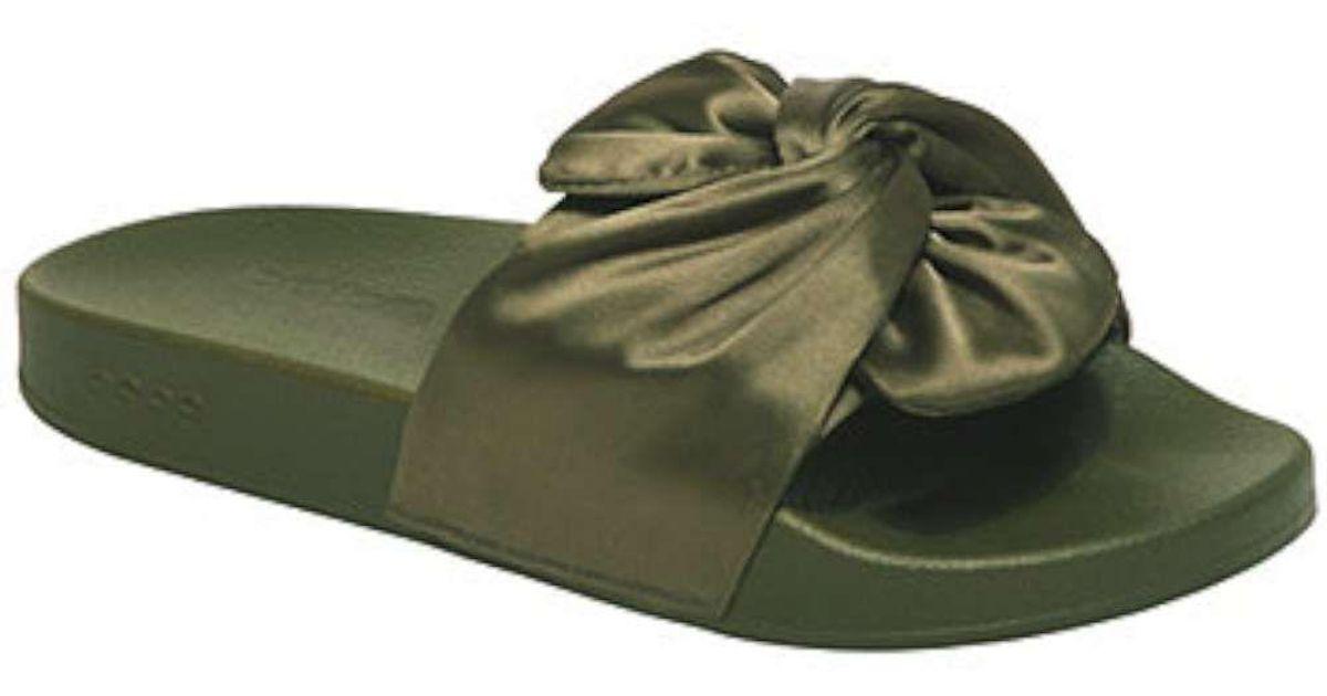 f9b30cb9a1e Lyst - Bebe Womens Famke Open Toe Casual Slide Sandals in Green