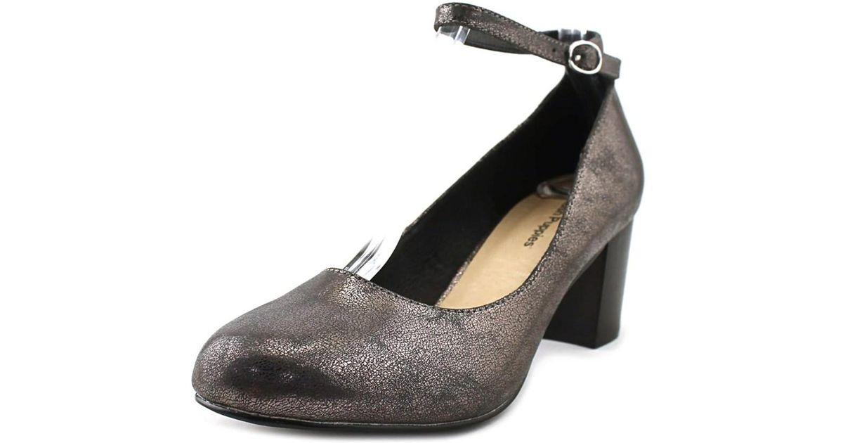 84435a74b191da Lyst - Hush Puppies Dane Damara Iiv Women Round Toe Synthetic Gray Heels in  Gray