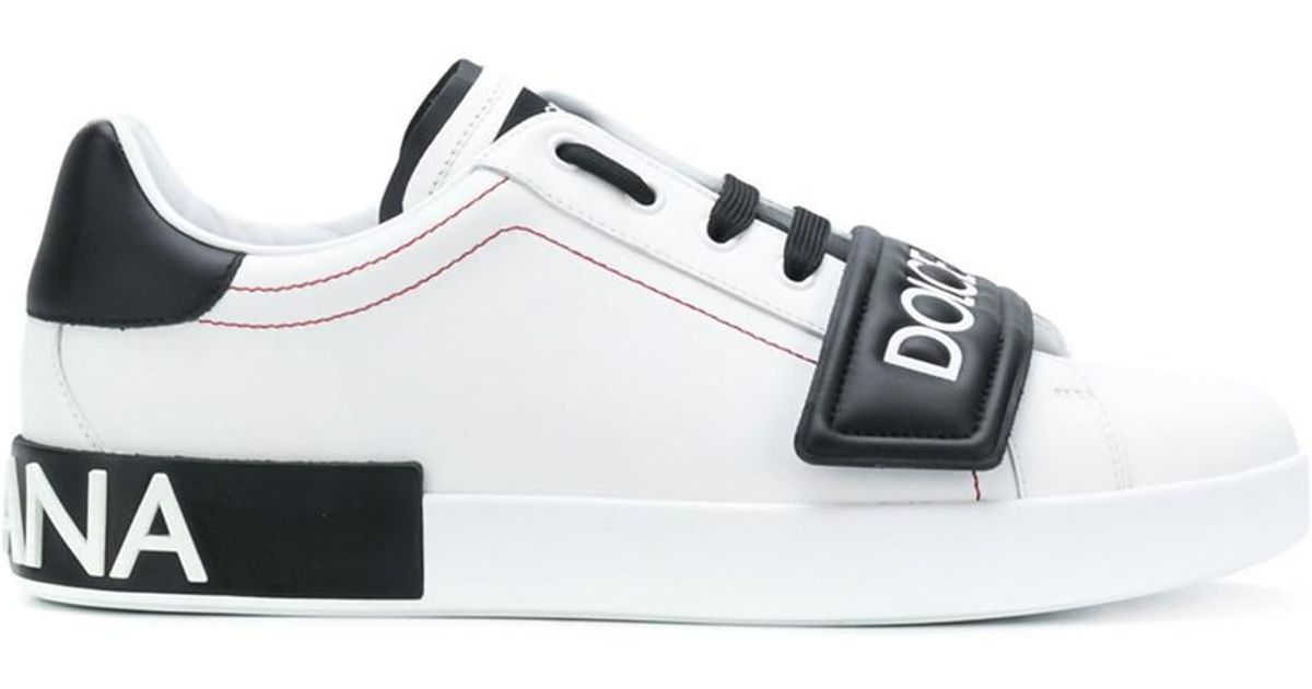 check out 601c3 118af Dolce & Gabbana - Dolce E Gabbana Men's White/black Leather Sneakers for  Men - Lyst