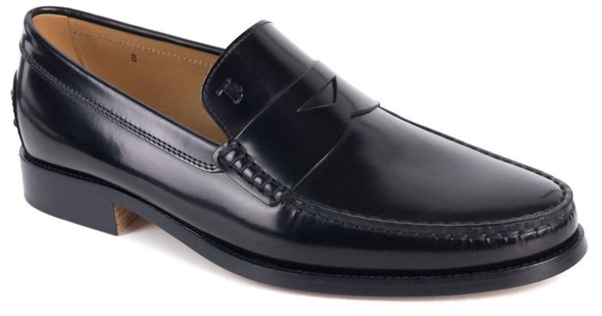 Tods Black New Devon Polished Le...