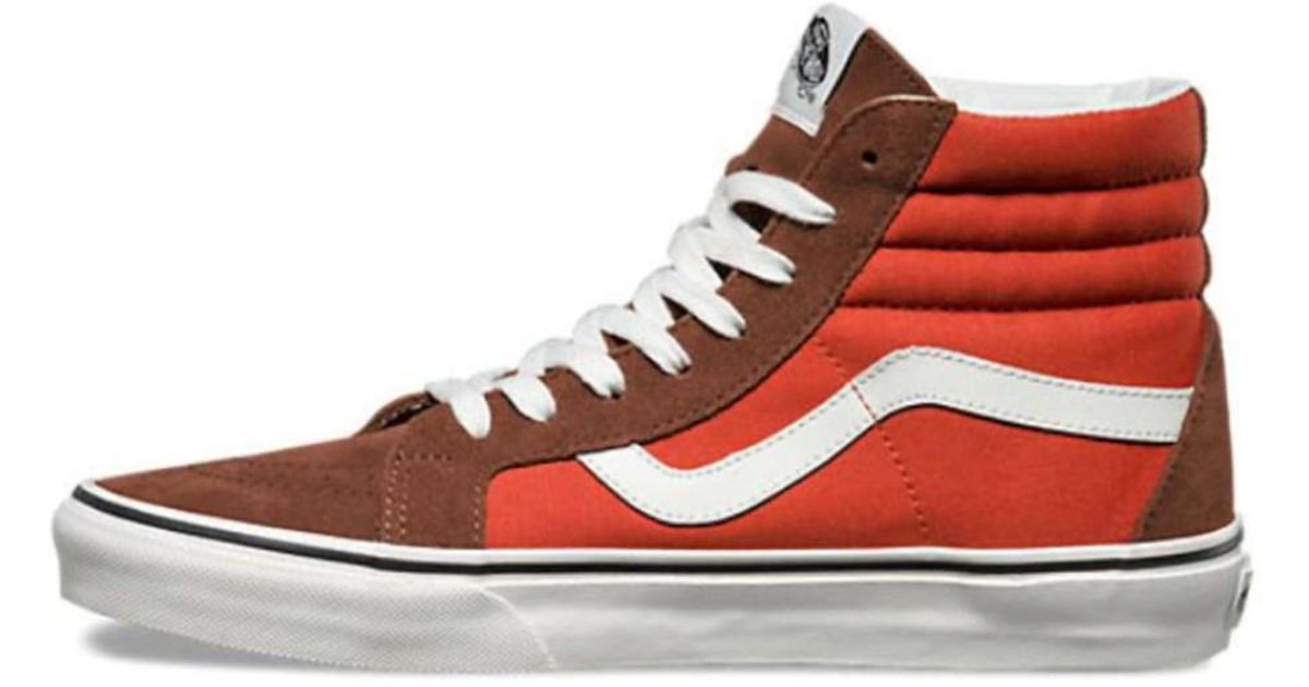 ce29ebd433 Lyst - Vans Mens Sk8-hi Reissue Canvas Hight Top Lace Up Fashion Sneaker in  Red for Men
