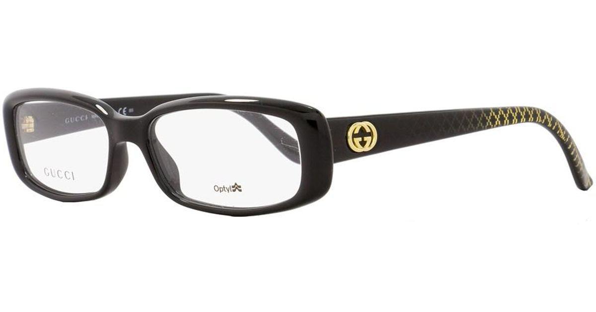 30c17252974 Lyst - Gucci Rectangular Eyeglasses Gg3567 W6z Size  52mm Black 3567 in  Black