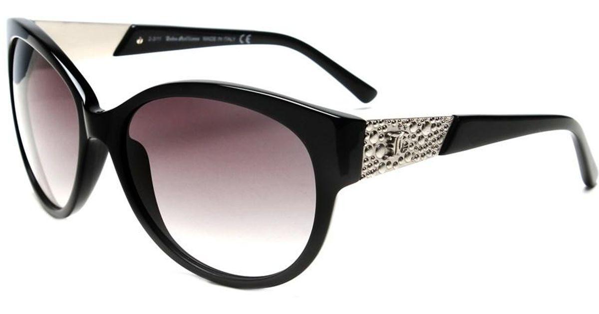 4338419031 Lyst - John Galliano Women s Oversized Frame Sunglasses Black in Black