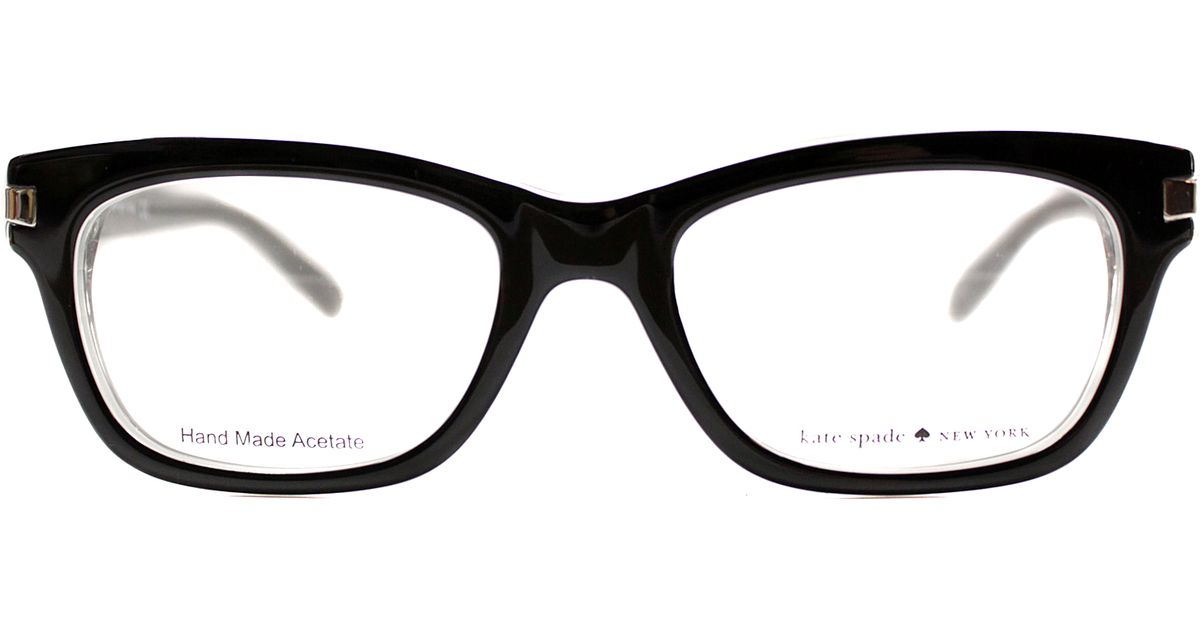 Kate spade Cat-eye Plastic Eyeglasses in Silver (black) Lyst