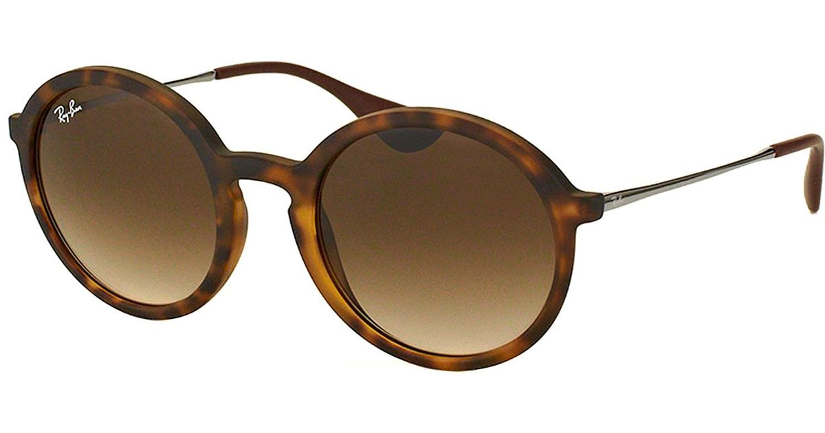 Ray-ban Round Plastic Sunglasses in Brown