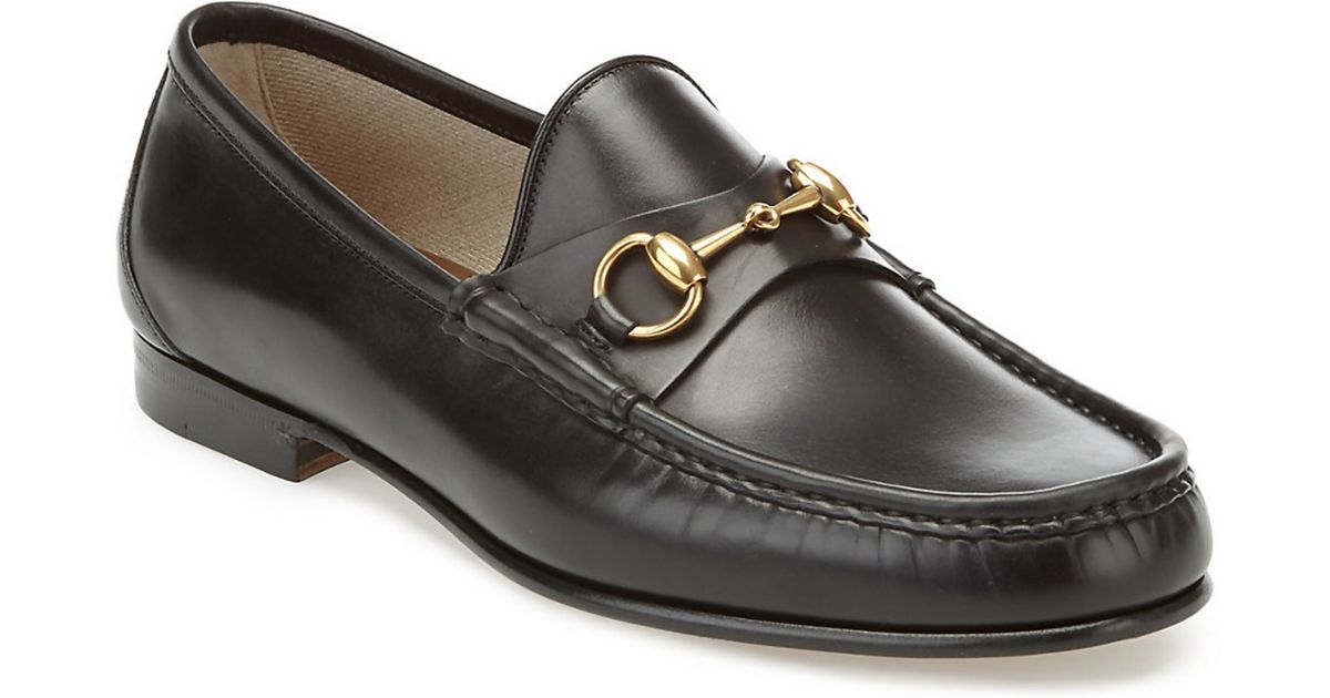 80090fc14cd Gucci horsebit leather loafer in black for men lyst jpg 1200x630 Gucci 1953