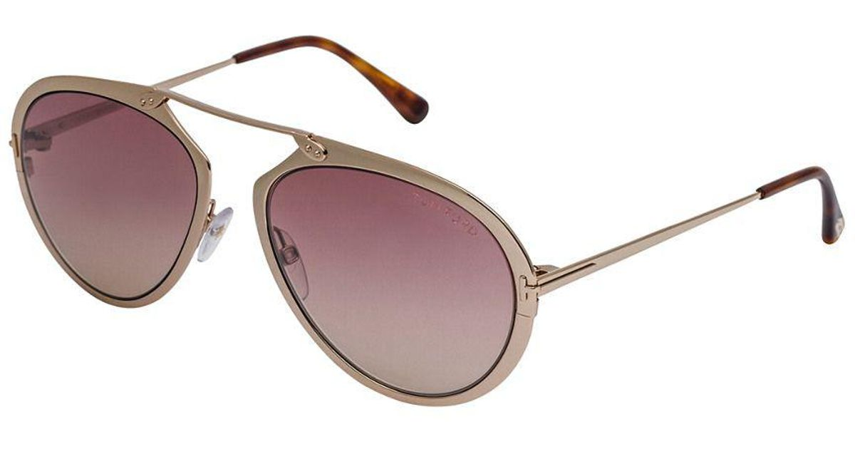 8f98c7c666b19 Lyst - Tom Ford Unisex Dashel 55mm Sunglasses in Yellow