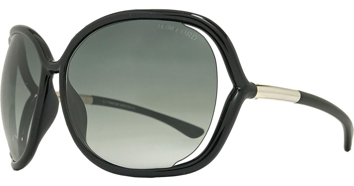 45be6f9d3730 Lyst - Tom Ford Butterfly Sunglasses Tf76 Raquel 199 Black gold Ft0076 in  Black
