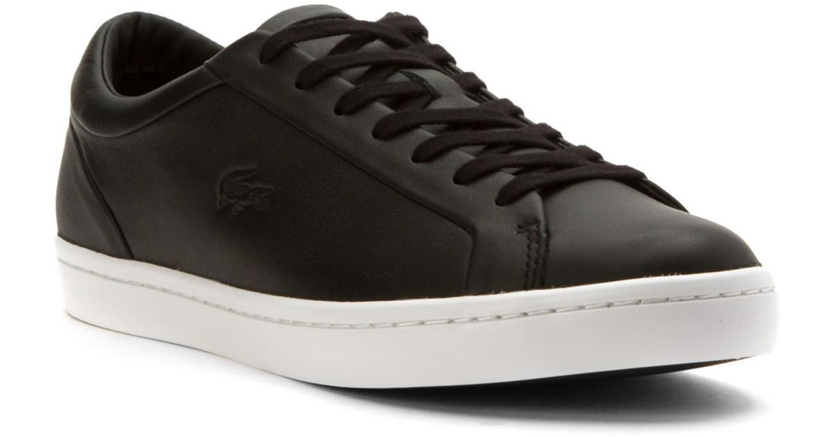 Lacoste Mens Straightset CRF Sneakers in Black bknhUF