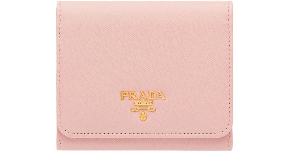 ... netherlands lyst prada saffiano leather flap wallet orchid pink in pink  27c1f dd857 36301e7d8d8bf