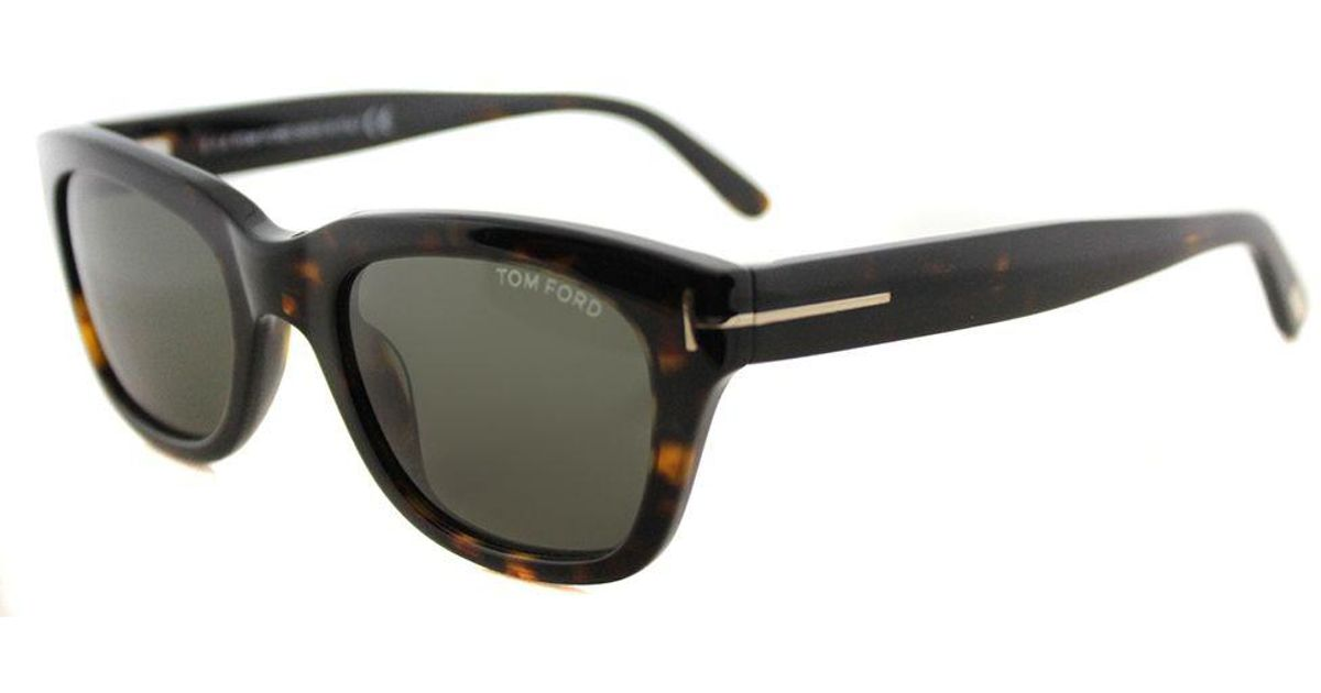 49bd9d368c20 Lyst - Tom Ford Tf 237 52n 52mm Red Havana Rectangle Sunglasses in Black