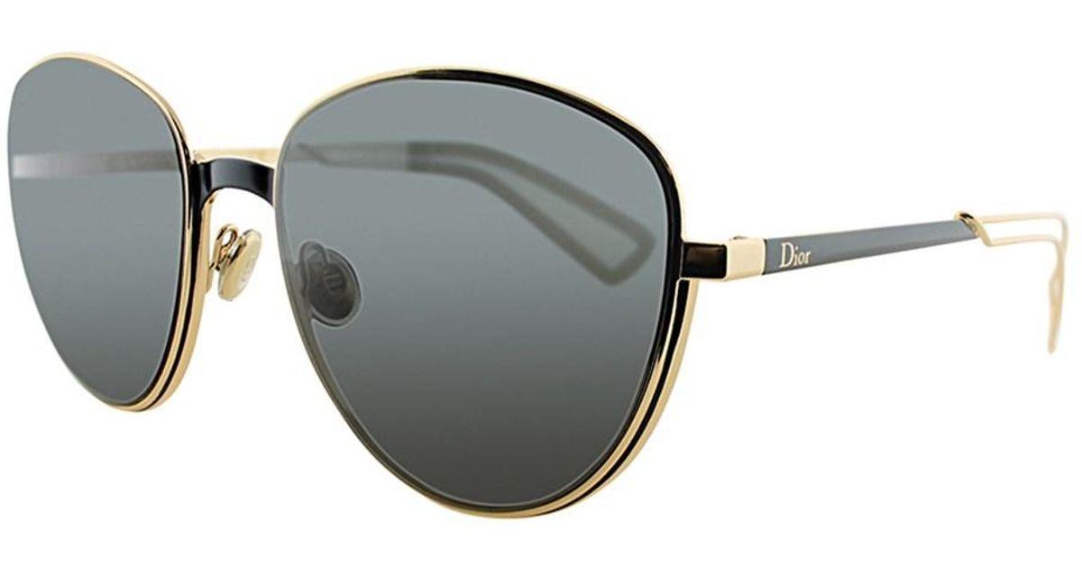 23076a00d820 Lyst - Dior Ultra Round Metal Sunglasses in Black