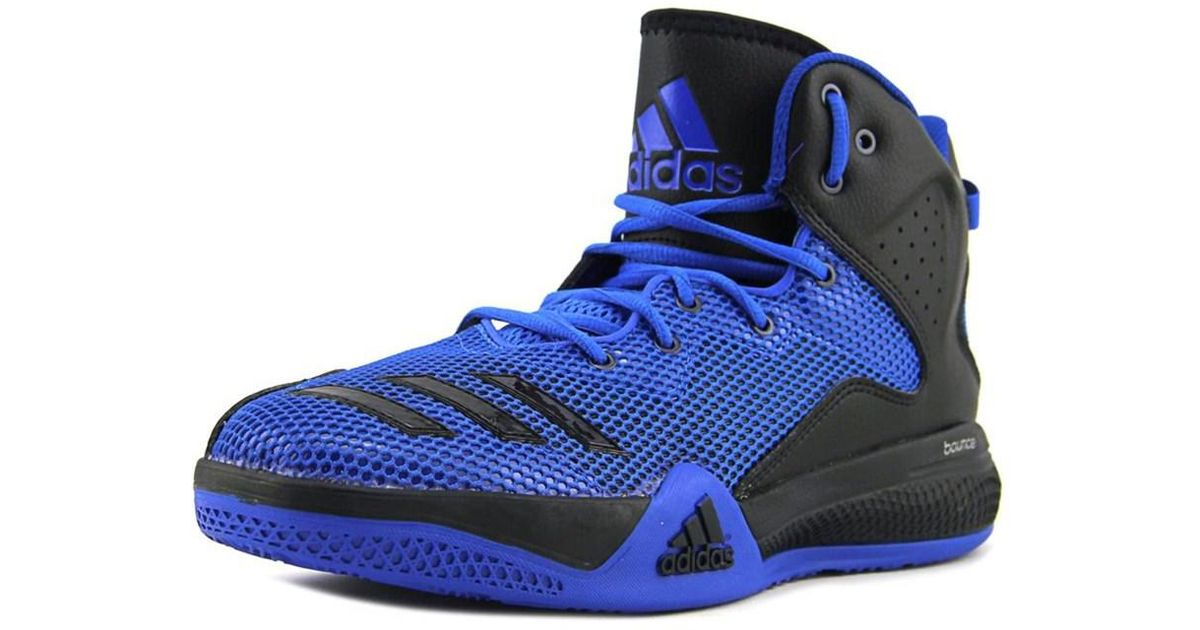 656bb1dab58c ... discount lyst adidas dt bball mid basketball shoe in blue for men a46f4  a8c82