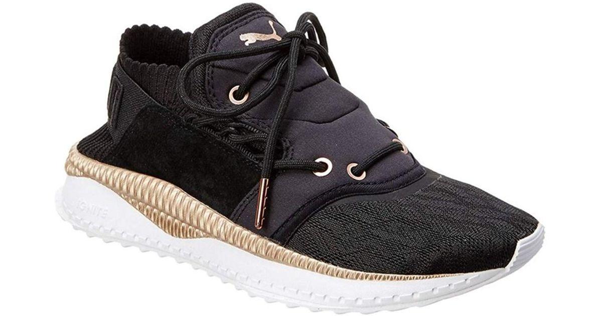 Lyst - Puma Womens Tsugi Shinsei Metallic Shoes in Black 034ecebfa