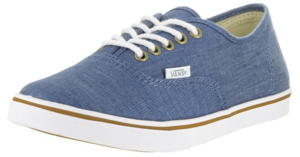 fe0b561c6822dd Lyst - Vans Unisex Authentic Lo Pro (chambray) Casual Shoe in Blue for Men