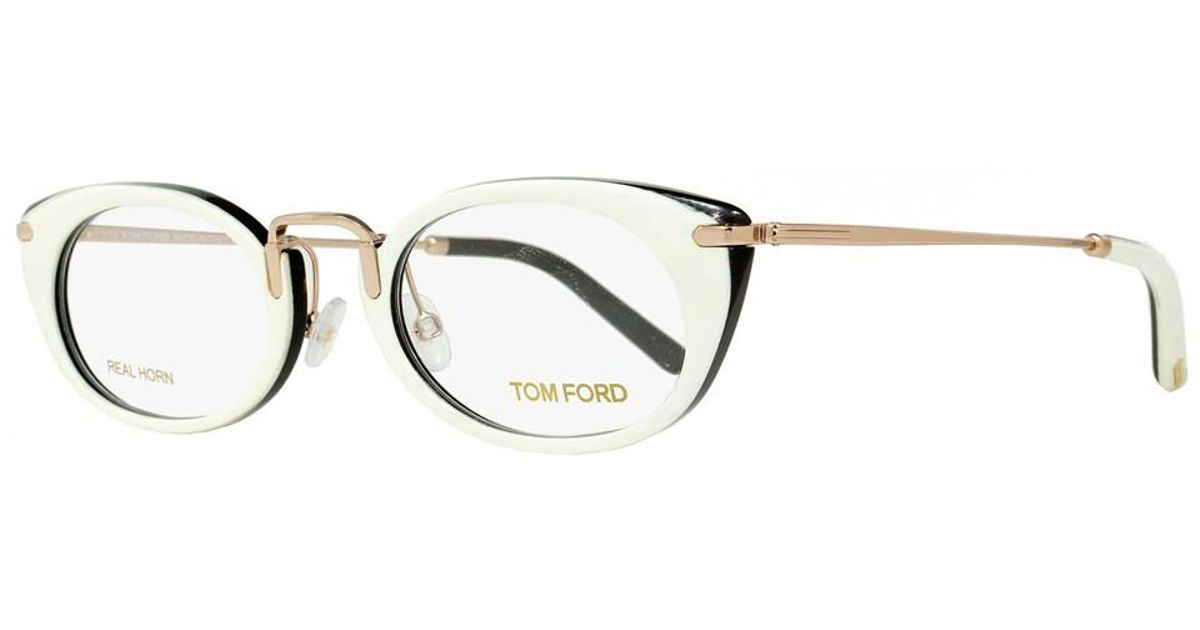 0e70cd51901 Tom Ford Oval Eyeglasses Tf5257 028 Size  50mm Ivory Buffalo Horn gold  Plated 5257 in White - Lyst