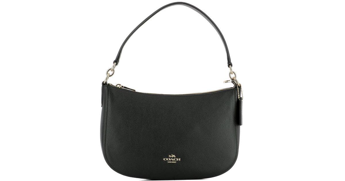Lyst - Coach Women s Black Leather Shoulder Bag in Black c8e86110da