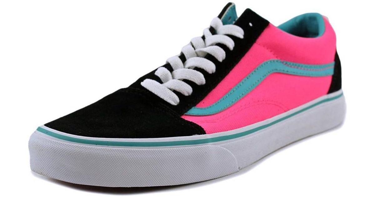 vans old skool round toe canvas sneakers in pink for men. Black Bedroom Furniture Sets. Home Design Ideas