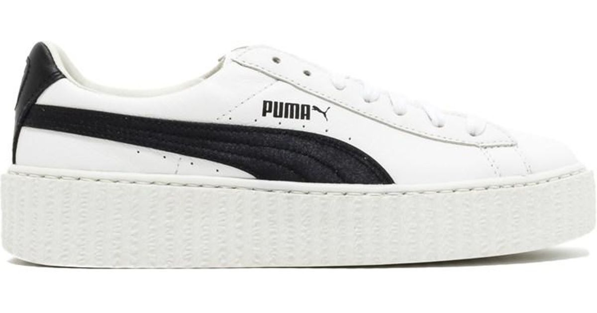3eb7d3af9eea33 Lyst - Puma Womens Creeper Low Top Lace Up Fashion Sneakers in White - Save  50.0%