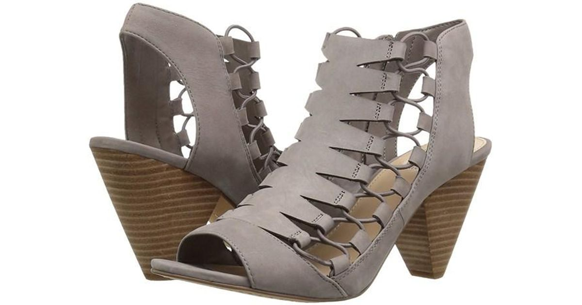 d8cb227df63 Lyst - Vince Camuto Womens Eliaz Leather Peep Toe Casual Strappy Sandals in  Gray