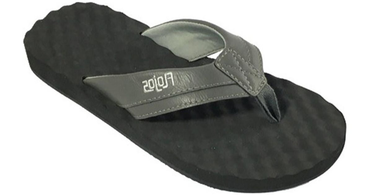 d88e3454686 Lyst - Flojos Men s Xander Flip Flop in Gray for Men