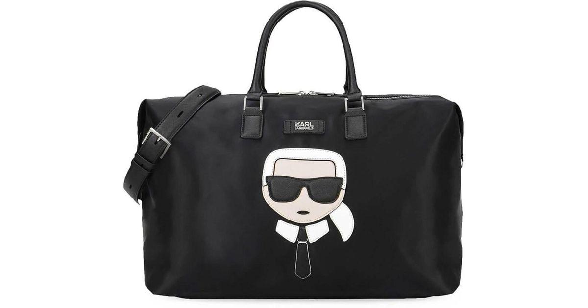 Unisexe - K / Nylon Et Cuir Ikonik Weekender Karl Lagerfeld 4IiJaGJ