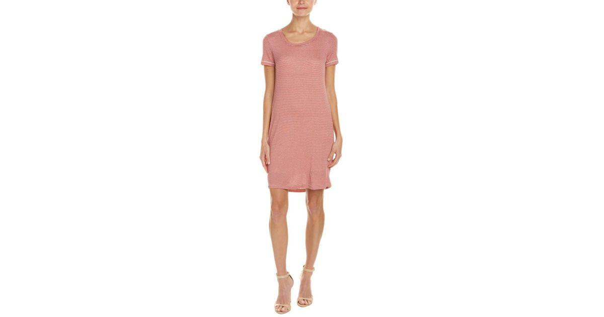 393149d6 Lyst - Splendid Striped Shift Dress in Pink