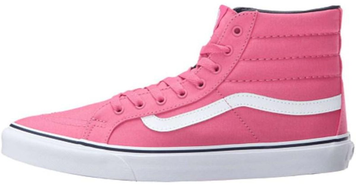 dc40202406a8 Vans Womens Sk8 Hi Slim Low Top Lace Up Fashion Sneaker in Pink - Lyst