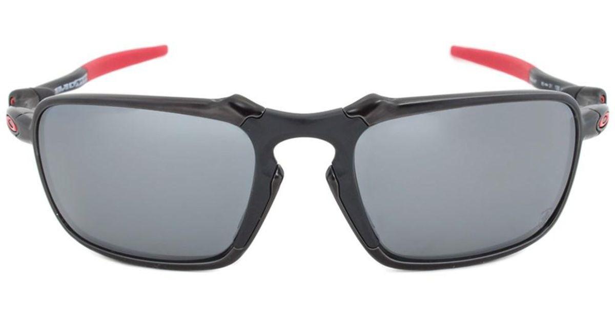 a303f1c179ad ... purchase lyst oakley badman polarized ferrari edition sunglasses oo6020  07 dark carbon frame black lens in