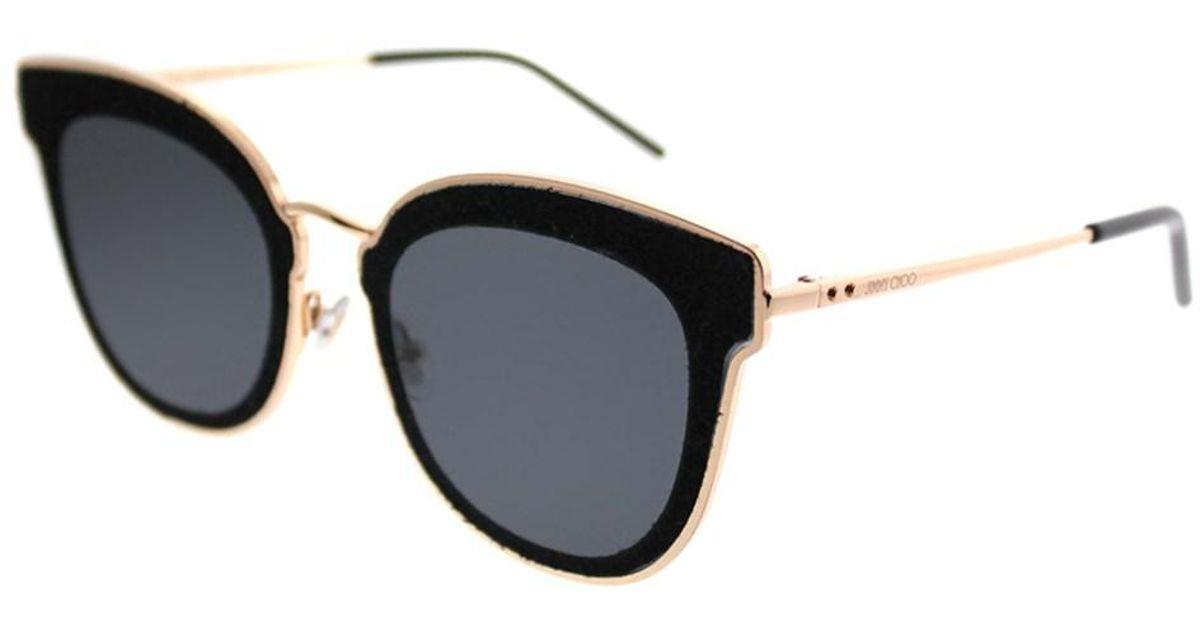 Nile Cat-eye Glittered Suede And Gold-tone Sunglasses - Blue Jimmy Choo London 8BDiI