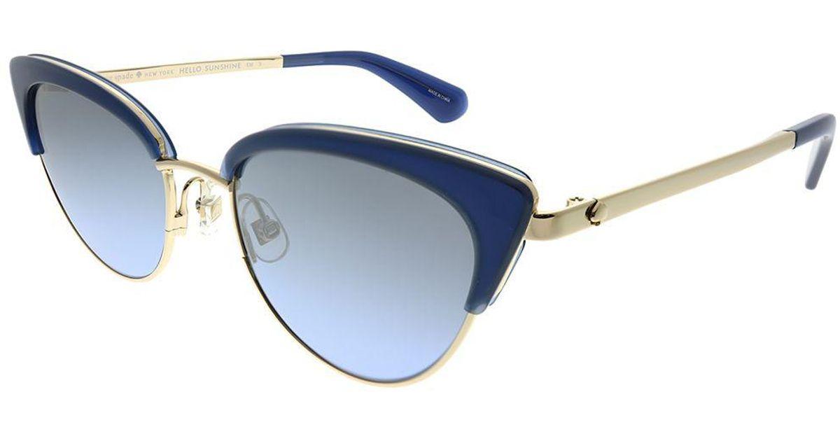a4ead01322d Lyst - Kate Spade Jahnam Pjp 9u Blue Cat-eye Sunglasses in Blue