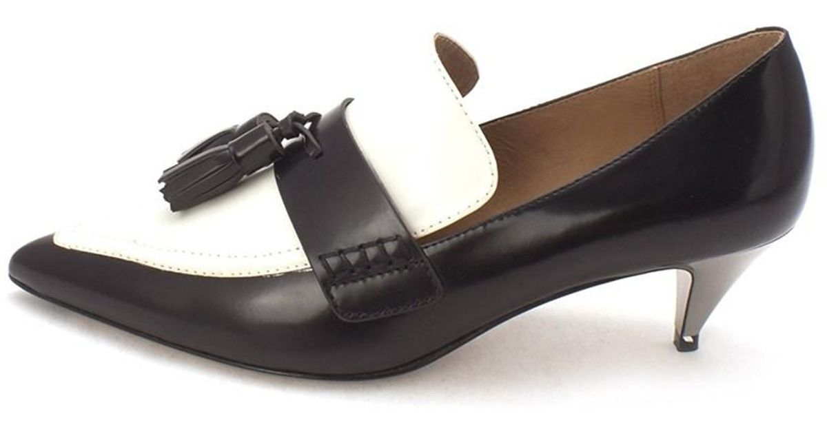 2b7b55ac6442 Lyst - Coach Womens Betty Loafer Box Leather Pointed Toe Classic Pumps in  Black