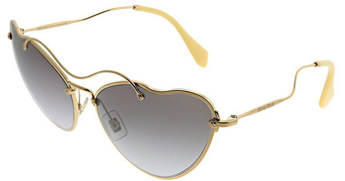 8b1d958e7ca Lyst - Miu Miu Scenique Collection Mu 55rs 7oe3e2 65 Antique Gold Cat-eye  Sunglasses in Metallic