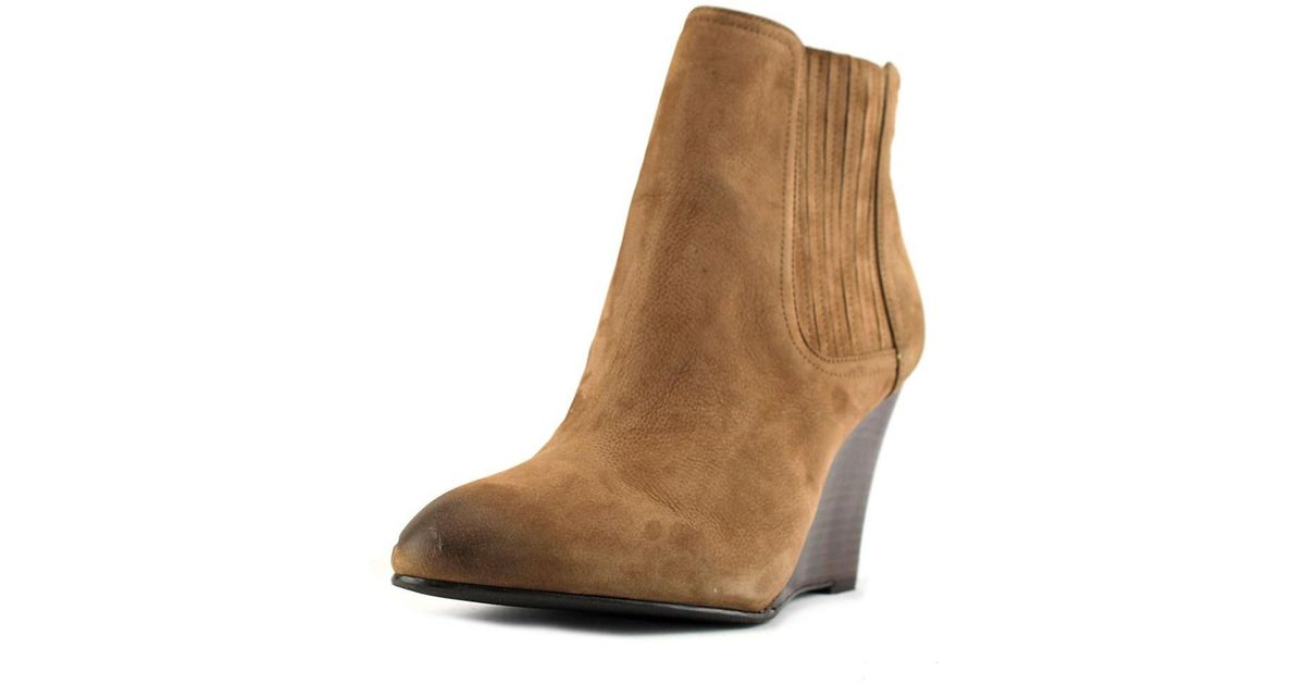 sam edelman gillian pointed toe leather brown bootie