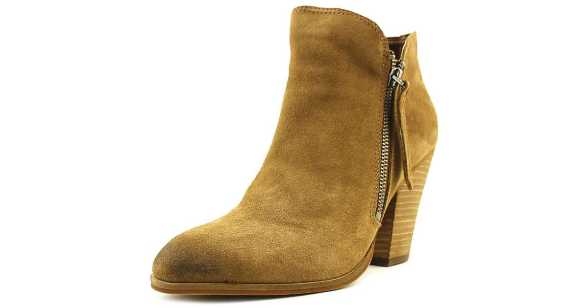 e018b7376ce Lyst - Dolce Vita Hixon Women Round Toe Suede Brown Bootie in Brown