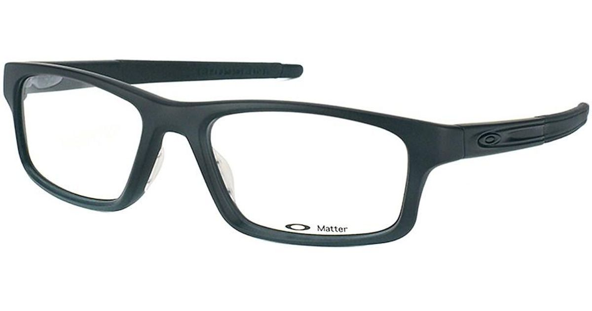 b581c09c14e Lyst - Oakley Pitch Ox8037 Rectangle Plastic Eyeglasses in Black