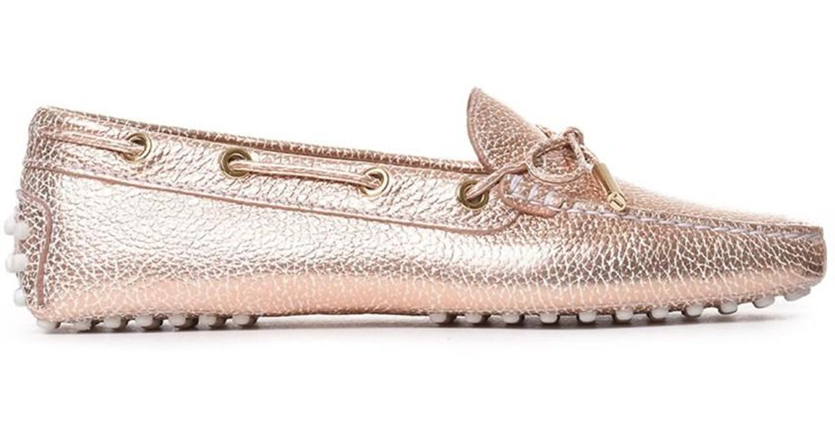 c9d0502a00f Lyst - Tod S Women s Pink Leather Loafers in Metallic