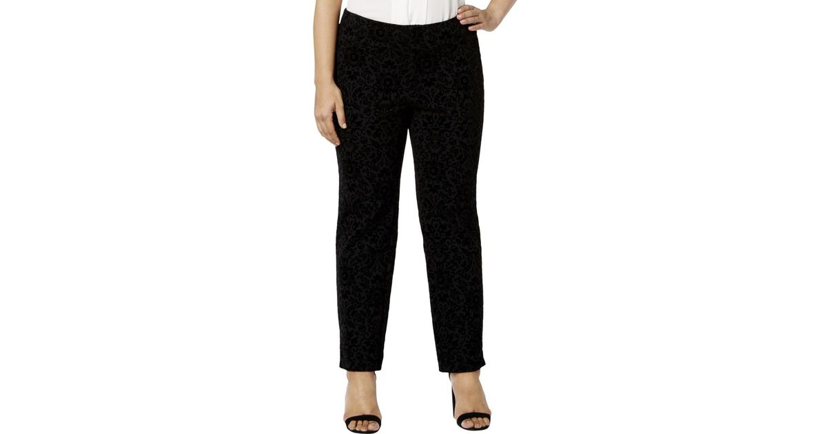 4a089391ea6 Lyst - Charter Club Womens Plus Textured Ponte Pants in Black