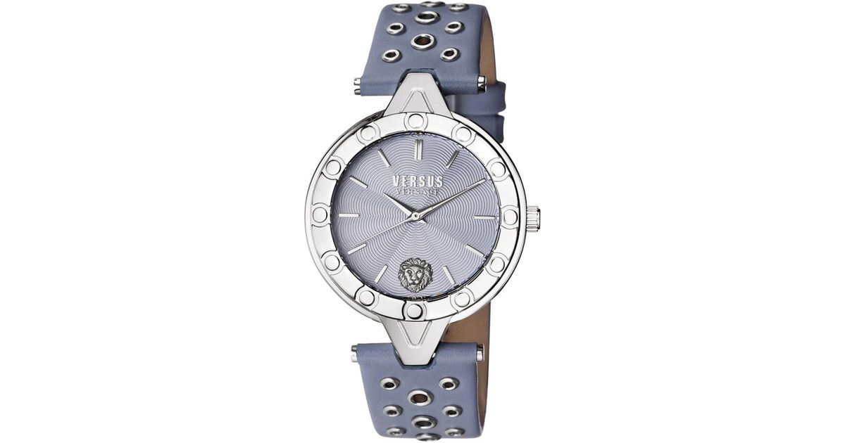 62cab42317c Lyst - Versace Women s V Versus Eyelet Watch in Gray