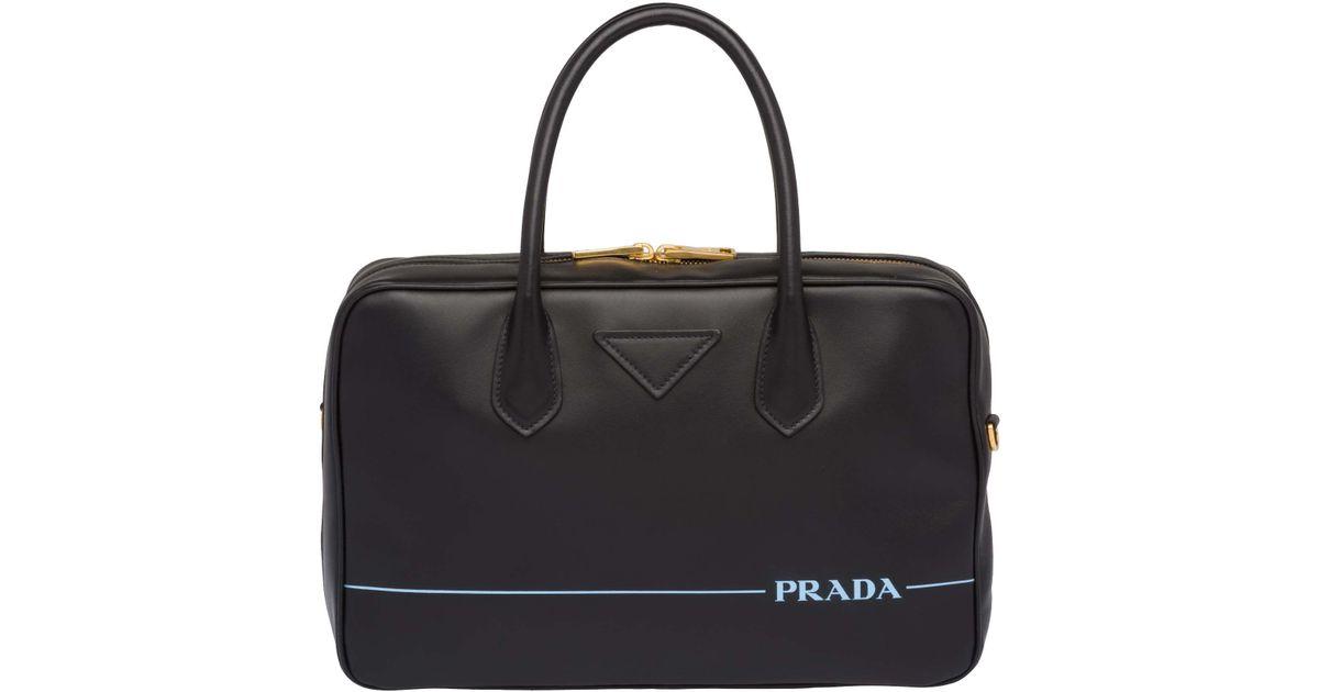 48e7e32ee2 Lyst - Prada Women s Black Leather Handbag in Black