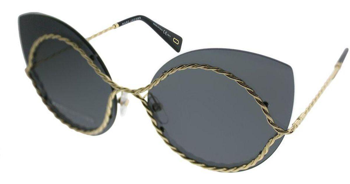 5eda3a98d5e8 Lyst - Marc Jacobs Marc 161 J5g Gold Cat-eye Sunglasses in Metallic