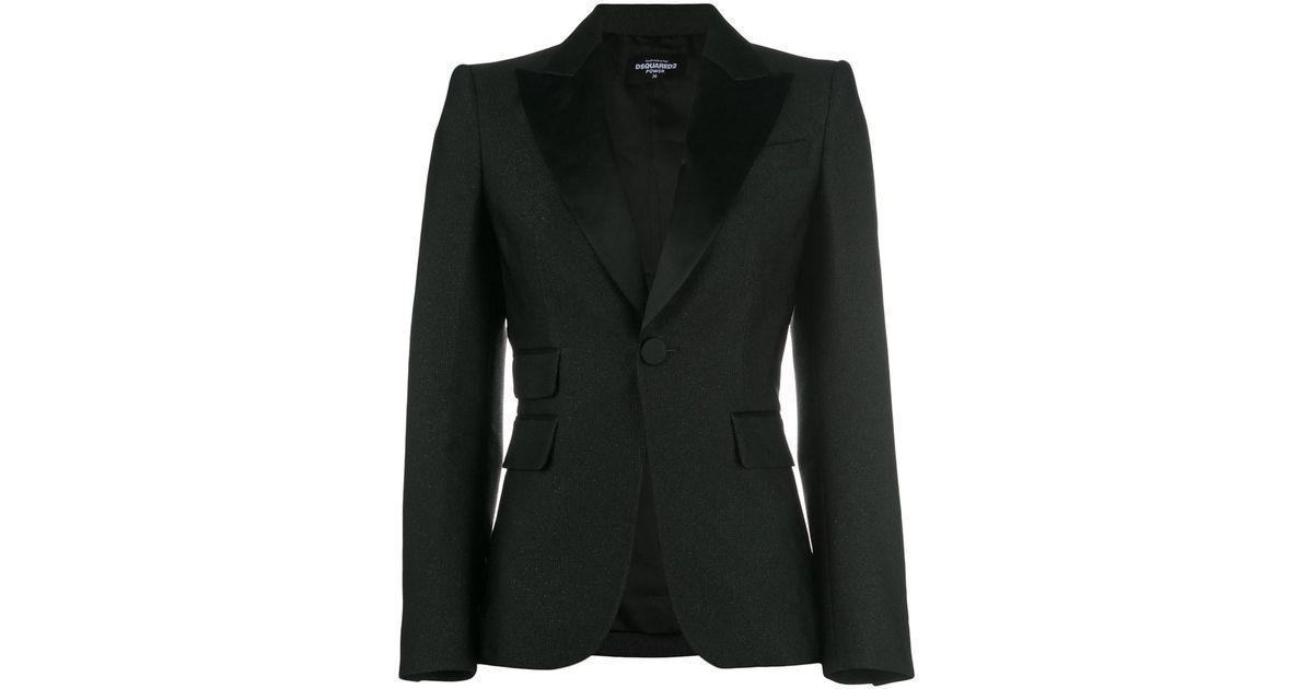 a261ad16e04 Lyst - Dsquared² Women's Black Silk Blazer in Black
