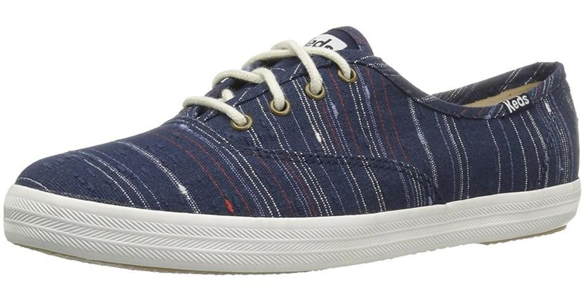 b152dd1eeee62 Lyst - Keds Womens Champion Celestial Canvas Low Top Lace Up Fashion  Sneakers in Blue