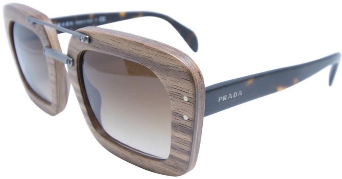 47d50ba594281 cheapest prada pr 17os sunglasses in black 84cef 801db  czech lyst prada  spr 30r iam 6s1 womens brown frame brown lenses sunglasses in brown 1f5ee