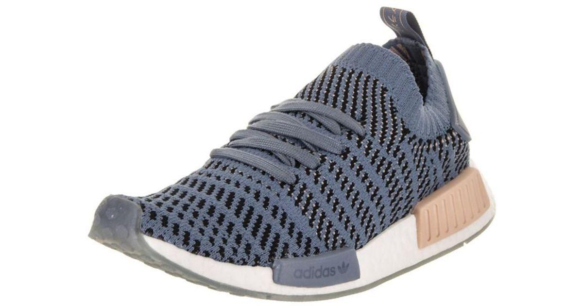 69f7f15946916 Lyst - Adidas Women s Nmd r1 Stlt Primeknit Originals Running Shoe in Blue