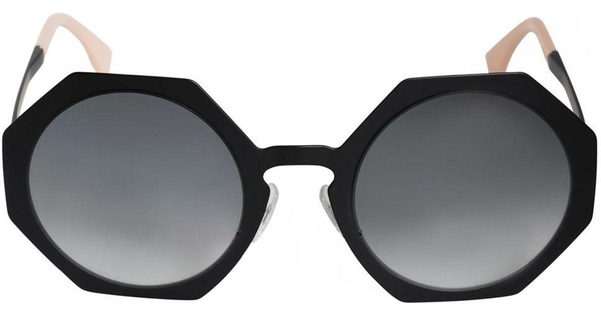 9f5e05eae5 Lyst - Fendi Facets Round Sunglasses Ff0152s 003 Jj 51