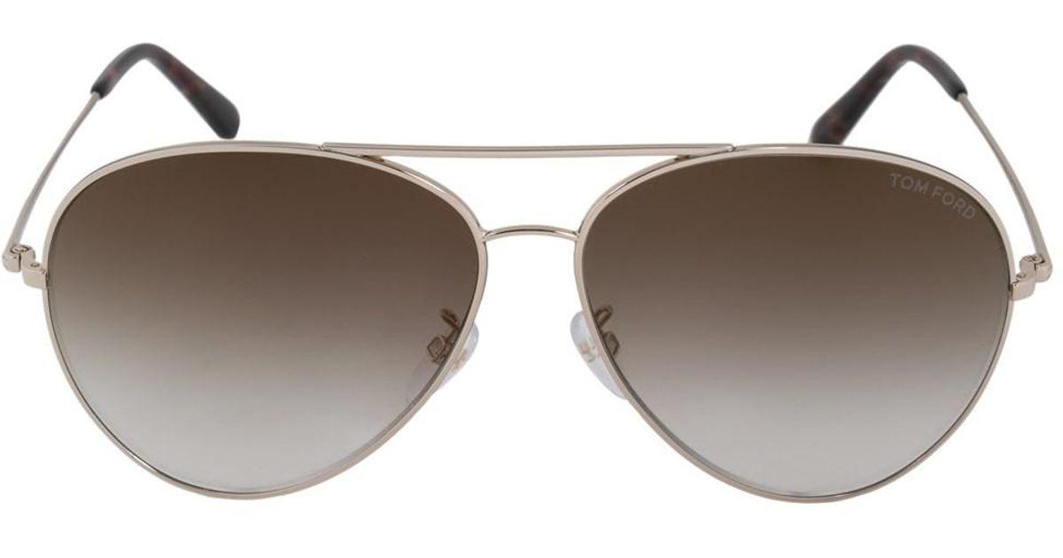 49f208596ff Lyst - Tom Ford Aviator Sunglasses Ft0417 28g 62