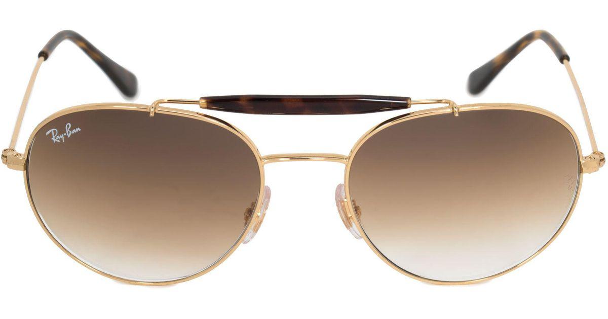 f6e8908d7e Lyst - Ray-Ban Aviator Sunglasses Rb3540 001 51 53